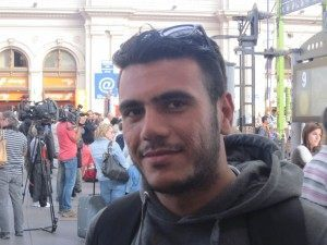 Ahmed has travelled overland from Syria to Budapest on his way to Oslo, Norway.
