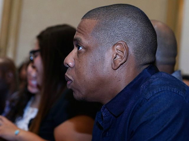 ay-Z attends Miguel Cotto Vs Canelo Alvarez Press Conference at Wyndham New Yorker Hotel on August 26, 2015 in New York City. (Photo by