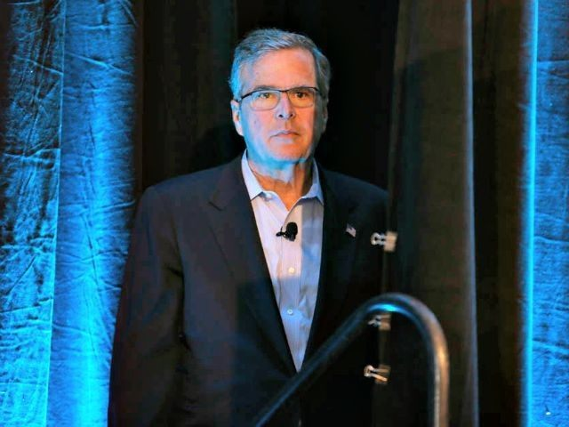 Jeb Bush behind curtain AP