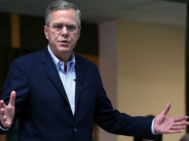 Republican presidential candidate and former Florida Gov. Jeb Bush speaks during a town hall style meeting at La Progresiva Presbyterian School on September 1, 2015 in Miami, Florida. Jeb continues to campaign for the Republican nomination. (Photo by