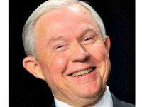 Jeff Sessions smiling AFP