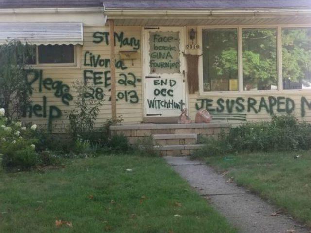 Ex-Teacher Paints 'Jesus Raped Me' On Garden City Home