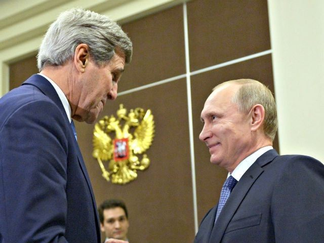 John Kerry and Vladimir Putin  Alexei NikolskyRIA-Novosti, Kremlin Pool Photo via AP