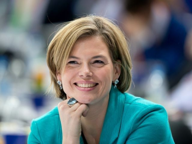 BERLIN, GERMANY - APRIL 05: Julia Kloeckner, deputy party leader of the CDU attends the CDU federal congress on April 5, 2014 in Berlin, Germany.