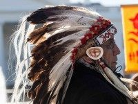 Lakota headdress (Nicholas Kamm / AFP / Getty)
