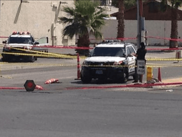 Las Vegas Police Officer Shot - Twitter - Breaking911