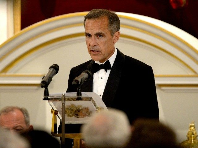 LONDON, ENGLAND - JUNE 10: The Governor of the Bank of England, Mark Carney, gives his speech at the annual 'Lord Mayors Dinner to the Bankers and Merchants of the City of London' at the Mansion House on June 10, 2015 in London, England.