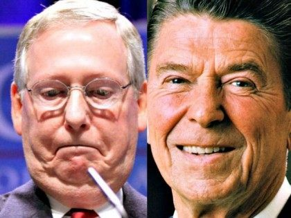 Mitch McConnell Gage Skidmore Flickr (L) Ronald-Reagan AP White House