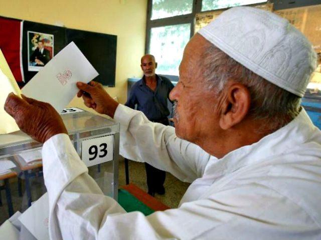 Morocon Man Casts Ballot AP PhotoAbdeljalil Bounhar