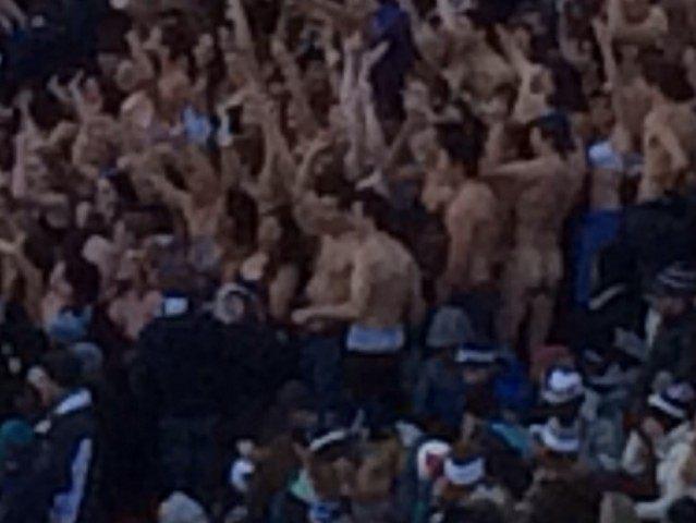 Naked Yale Guy Harvard Stadium