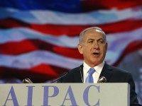 Netanyahu at AIPAC (Mark Wilson / Getty)