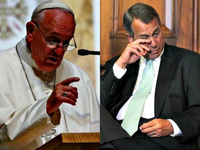 Pope Mass Boehner Crying Getty AP
