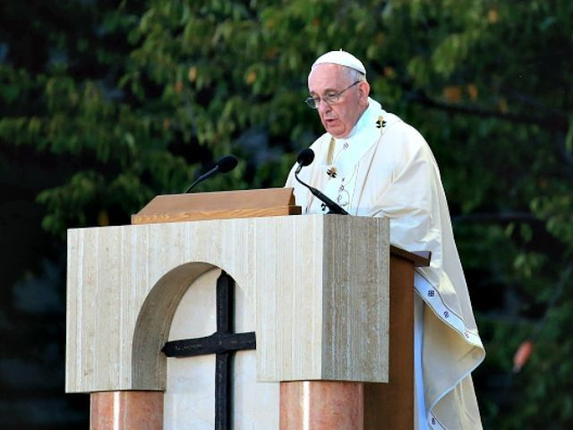 Pope Speaks Cannonization of Father Serra Getty