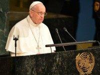 Pope speaks UN Getty