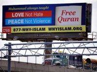 Pro-Muslim billboard AP PhotoStephan Savoia