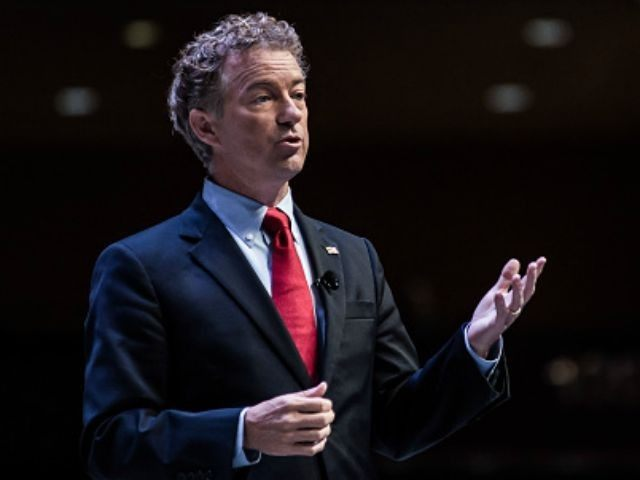 U.S. Sen. Rand Paul (R-KY) speaks to voters at the Heritage Action Presidential Candidate Forum September 18, 2015 in Greenville, South Carolina. Eleven republican candidates each had twenty five minutes to talk to voters Friday at the Bons Secours Wellness arena in the upstate of South Carolina. (Photo by