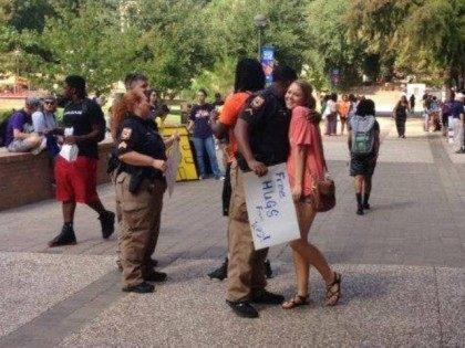 SHSU Cops Free Hugs