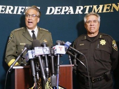 San Francisco Sheriff Ross Mirkarimi, left, Under Sheriff Federico Rocha and legal counsel Freya Horne, right, speak during a news conference, Friday, July 10, 2015, in San Francisco. Mirkarimi provided information regarding the April 2015 release of Juan Francisco Lopez-Sanchez, who is now accused in the shooting death of a woman at a popular tourist site.