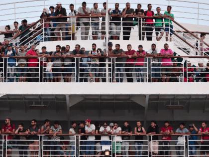 Migrants, Ferry, Greece,