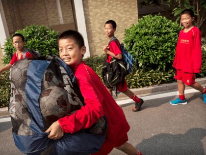 Chinese Football Children