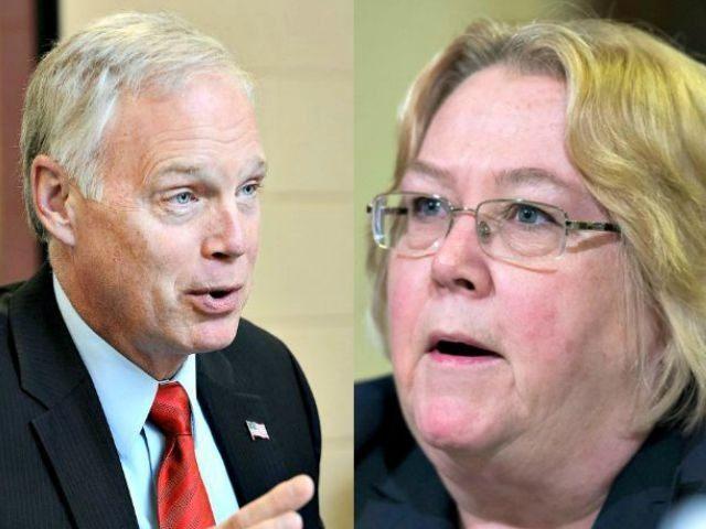 Sen Ron Johnson and Linda Halliday AP Photos