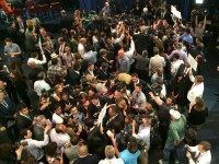 Spin room after the undercard debate, Sept. 16, 2015