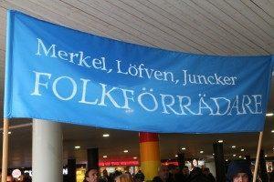 Stockholm Protest Banner