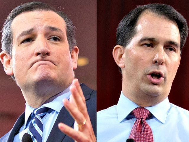 Ted Cruz and Scott Walker AP Photos