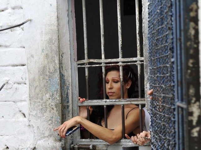 Transvestite prisoner (Guillermo Legaria / AFP / Getty)