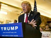Donald Trump Challenges Jeb Bush's Leadership After 'Plant' at Campaign Event