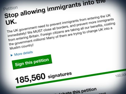 UK PETITION MIGRANTS