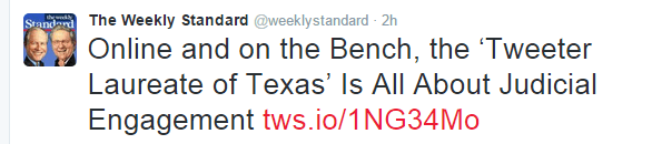 Weekly Standard Tweet about Willett