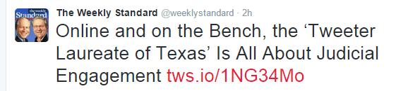 Weekly Standard Tweet about Willett
