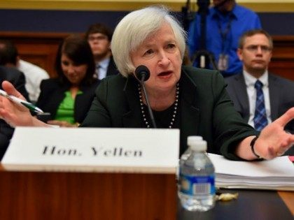 Federal Reserve Chairwoman Janet Yellen testifies before the House Financial Committee July 15, 2015 on Capitol Hill in Washington, DC. Yellen stuck to her forecast for an increase in the Fed's key interest rate later this year on Wednesday, predicting a pickup in the US economy. But Yellen also warned …