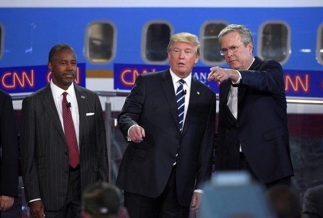 Donald Trump, Jeb Bush, Ben Carson