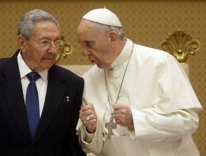 Francis, Raul Castro