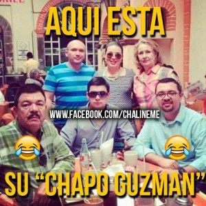 Meme made by musician Cesar Chalin EME which mocked the Chapo media storm caused by the doctred photo.