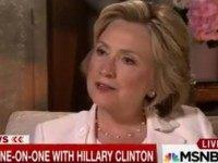 Hillary: 'We Followed All the Rules on Classified Material'