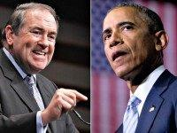 Mike Huckabee and barack Obama