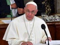 Pope Francis addresses a joint session of Congress on September 24, 2014 in Washington, DC. The Pope is the first leader of the Roman Catholic Church to address a joint meeting of Congress, including more than 500 lawmakers, Supreme Court justices and top administration officials including Vice President Joe Biden. …