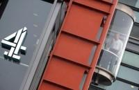The Channel 4 television station emblem is seen at their headquarters in central London