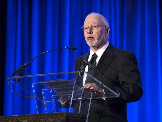 Paul Singer, founder and CEO of hedge fund Elliott Management Corporation, speaks at the Manhattan Institute for Policy Research Alexander Hamilton Award Dinner, Monday, May 12, 2014, in New York. Republican establishment favorites, former Florida Gov. Jeb Bush and Wisconsin Rep. Paul Ryan, courted some of Wall Street's most powerful political donors Monday night, competing for attention from hedge fund executives gathered in midtown Manhattan as the early jockeying in the 2016 presidential contest quietly continues.   (AP Photo/John Minchillo)