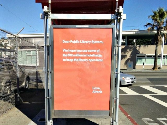 Airbnb ad in San Francisco