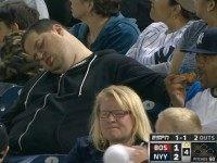 Andrew Robert Rector Sleeping Yankees Fan