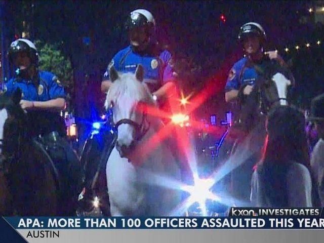 Austin - 100 Cops Assaulted - KXAN Screenshot