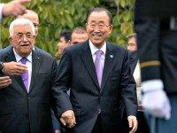 Ban Ki Moon holds hands with Abbas Craig RuttleAP