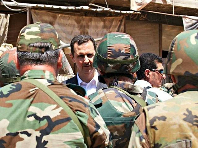 Bashar Assad talks to Army AP