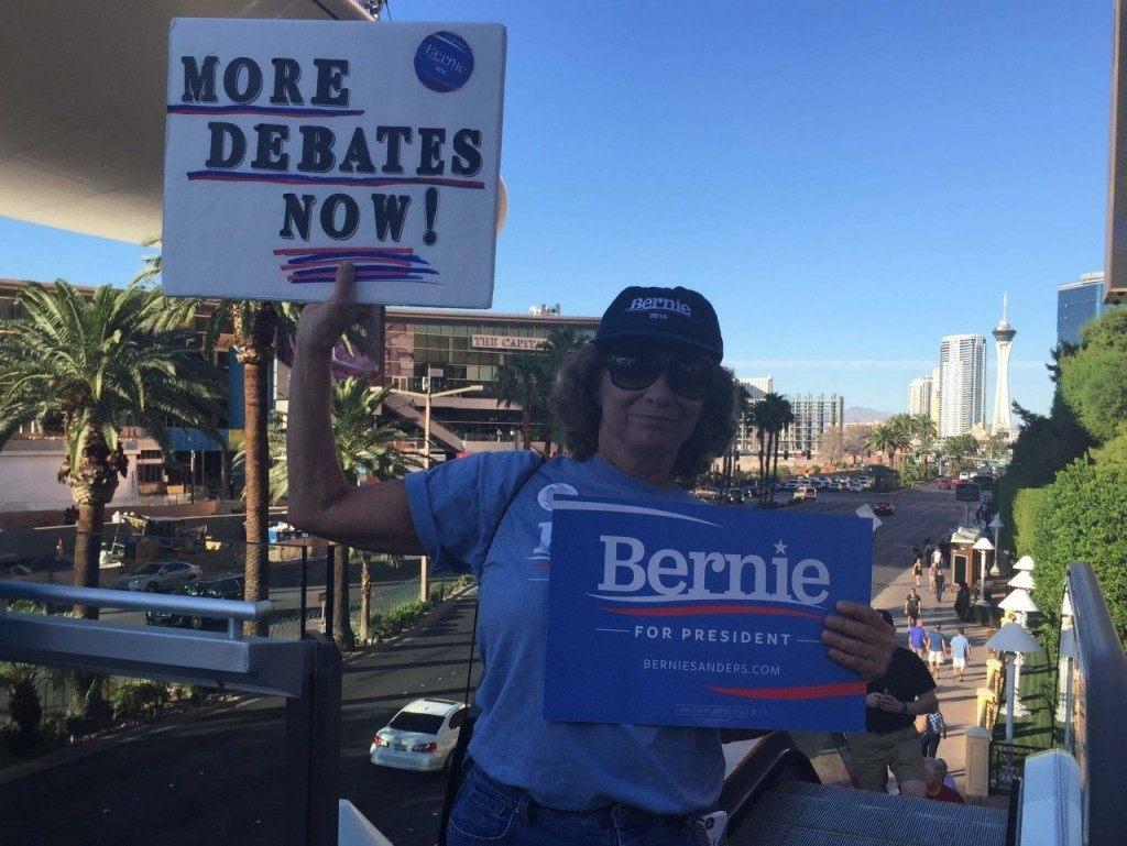 Bernie Sanders supporter (Joel Pollak / Breitbart News)