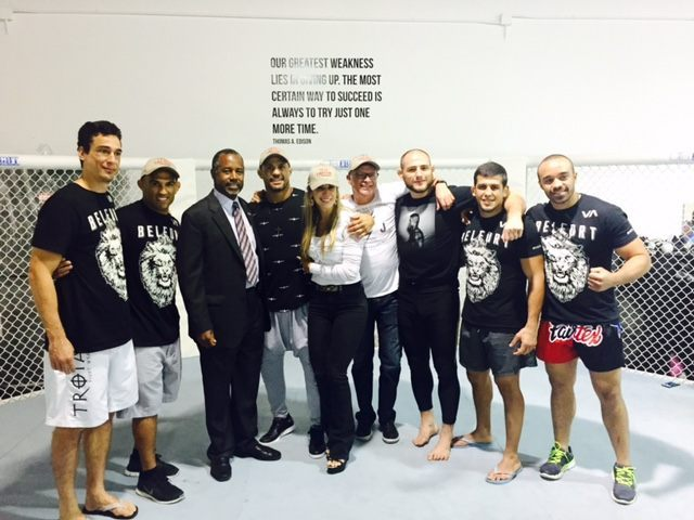 Carson Crew at Vitor Belfort's Gym