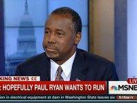 Carson: 'I Like Paul Ryan' 'Hopefully' He'll Decide to Run for Speaker